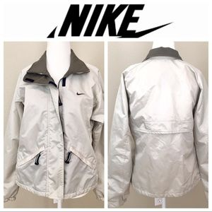 NIKE Zippered Rain JACKET Women Small